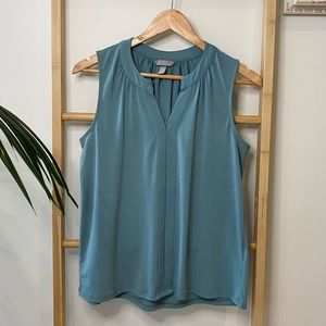 H&M Corporate Aqua Top Blouse Size S